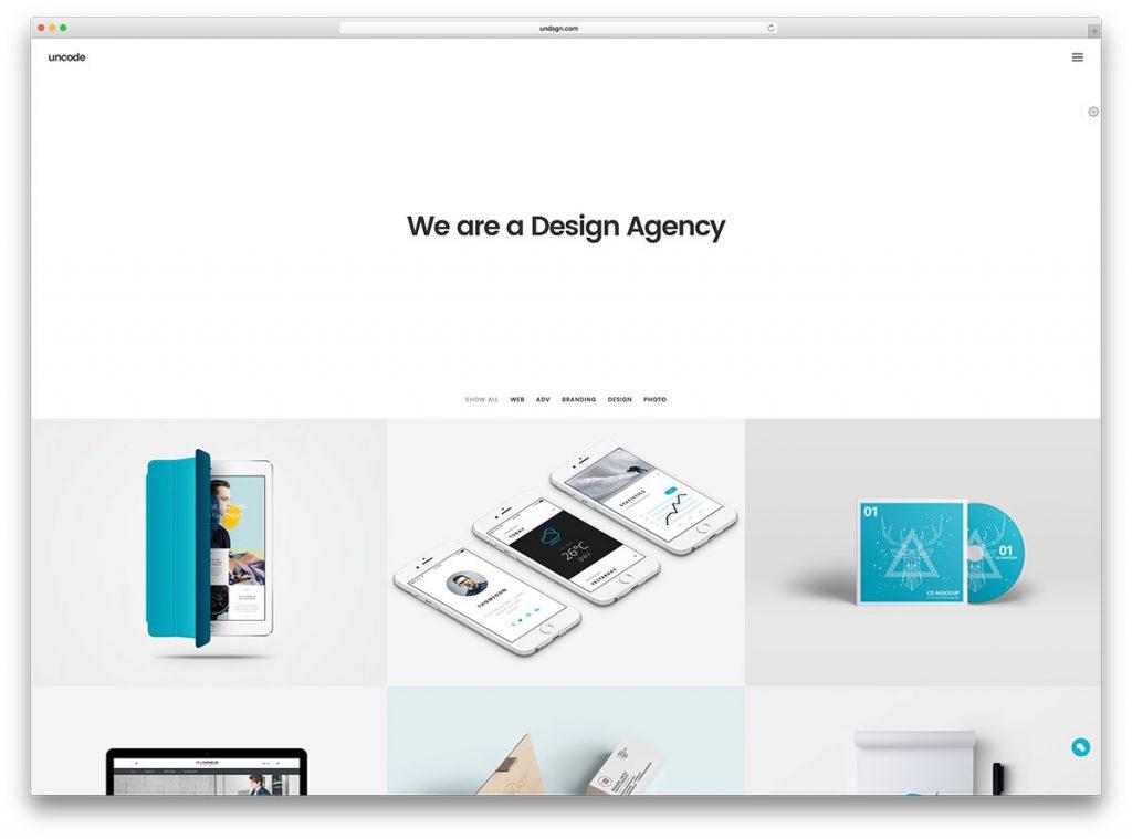 uncode-minimal-portfolio-hjemmeside-tema